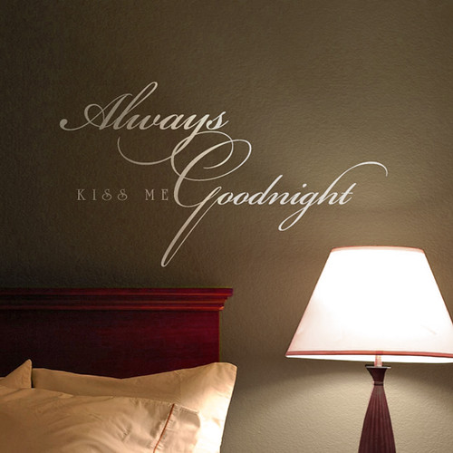 Vinyl Lettering Adds Elegant Appeal to Any Bedroom