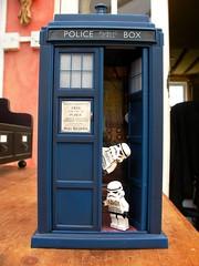 Time Travel (fairycake1) Tags: toys starwars lego doctorwho stormtrooper tardis