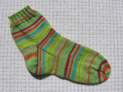 Striped singleton sock