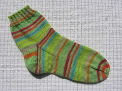 Green striped sock