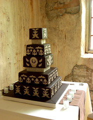 Joe and Conner's Wedding Cake (Sugar Envy) Tags: wedding cake square de cards james casa fireplace candle place wine chocolate cork loco joe winery conner fondant centerpieces deocrations rosselle casadeloco brothersjoeandconnersweddingcandlecenterpieceschocolatesquareweddingcake sugarenvycookies sugarenvy