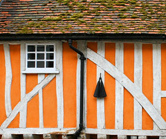 House in Hertford (Andrea Kennard) Tags: uk england orange window timber vivid tiles beams hertford