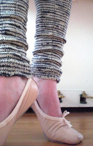 Zebra legwarmers doing ballet