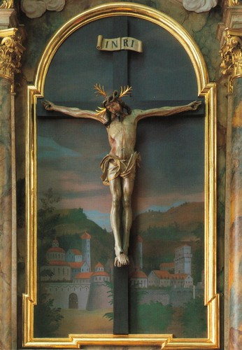 "Gotische Kruzifix ""Schwarzer Kruzifixus"", Alte Spitalkirche, Innsbruck"