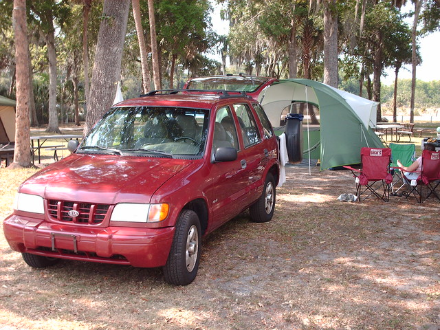 camping 1999 tent kia sportage