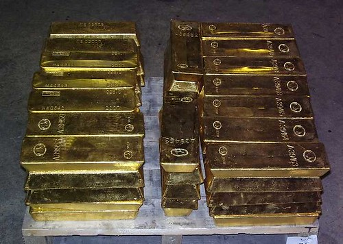 Gold Bullion Bar Stack