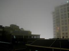 bright foggy night