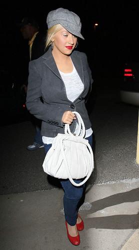 Christina Aguilera Shopping At Babies R US