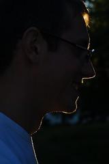 don't be fooled, he's far from angelic (kathleen.bradley) Tags: portrait david silhouette austria sterreich profile horn niedersterreich magichour waldviertel poigen