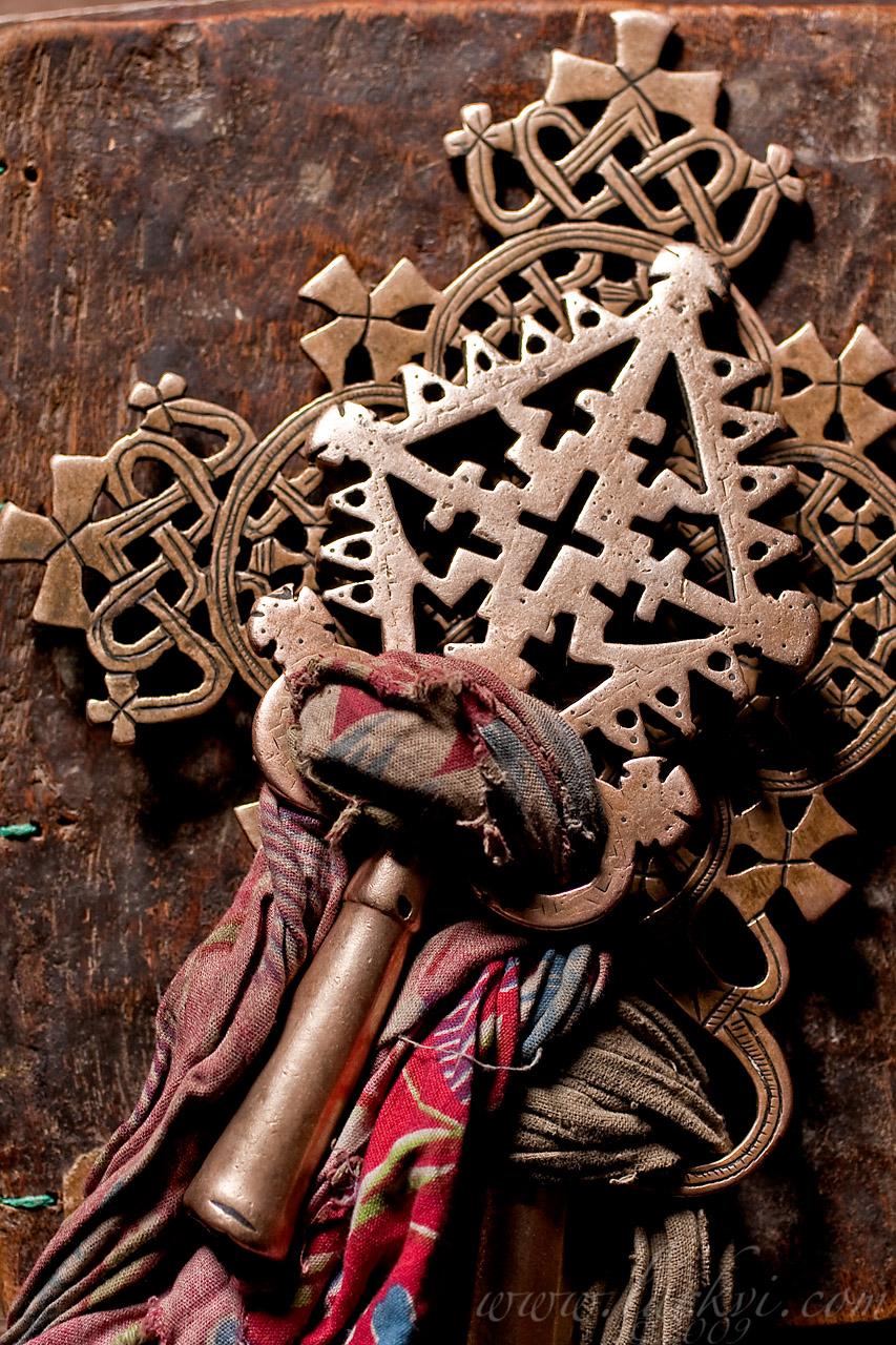 Crosses, Bilbala Q'iros Chuch, Lasta, Ethiopia, June 2009
