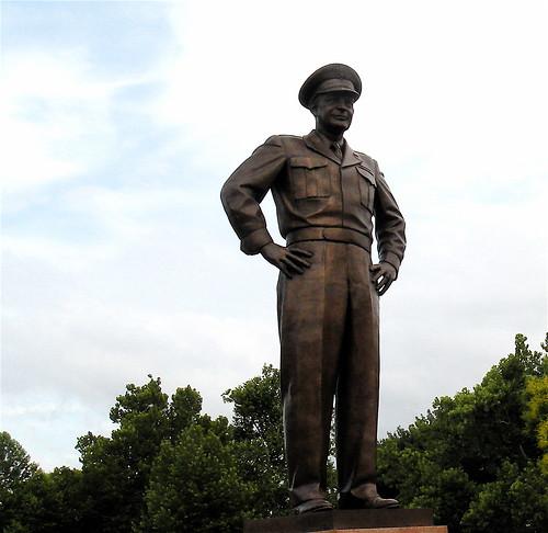 Ike statue in Abilene, KS