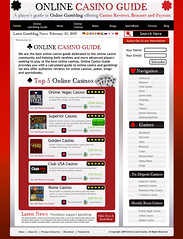 Online Casino Guide Contest Design