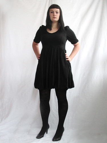 organic cotton jersey balloon dress