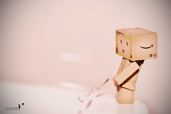 Fave This! (achew *Bokehmon*) Tags: pink color pee water toy robot amazon funny box sony toilet dirty alpha tone danbo a850 danboard dariogianneli