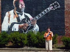 At the B.B. King Mural in Indianola, MS