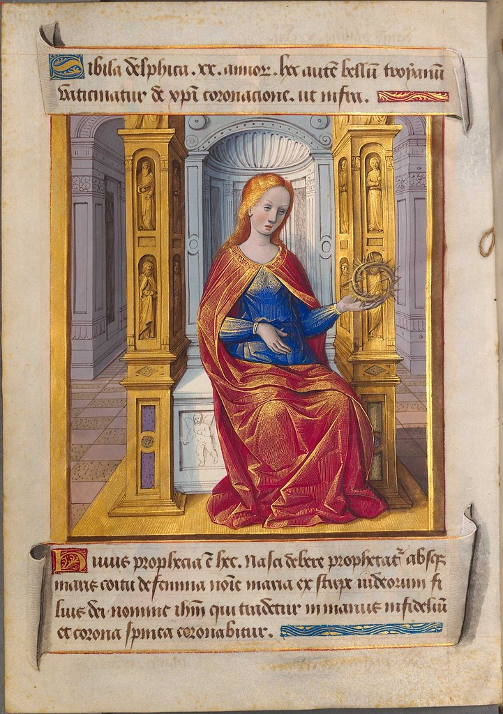 illuminated miniature by Jean Poyet in sibyllae et prophetae de Christo Salvatore vaticinantes s
