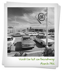 Used Car lot 1966