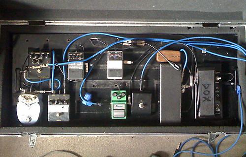 Jon Herington's pedalboard
