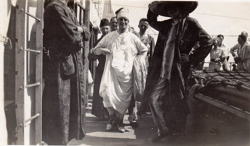Pyjama parade aboard RMS Strathaird. Aug 1932.