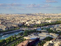 From the Eiffel Tower overlooking the Seine River... (williamcho) Tags: cruise paris tourism photoshop boat fance îledefrance cityscape eiffeltower aerial attraction seineriver hautenormandie landmarkriver langresplateau saintseine topazlabadjust williamcho sonydscwx1 patrickcheah imagingenhancement