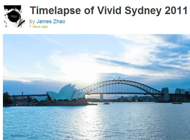 Vivid Sydney Timelapse