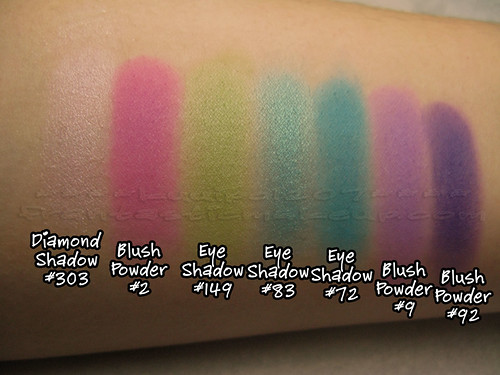 Make Up Forever Swatches