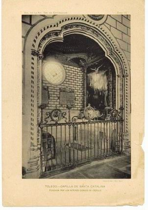 Capilla de Santa Catalina de la Iglesia de El Salvador de Toledo. Foto Hauser y Menet