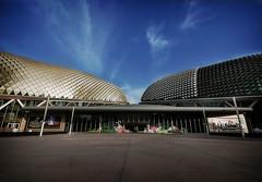 Singapore By Sunset (maskedcard) Tags: sunset landscape singapore bluesky nikond60 sigma1020mmhsm