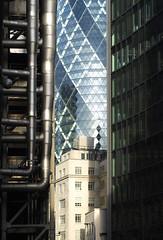 Lime Street, London EC3M (frog lolly) Tags: london glass architecture modern skyscraper buildings 30stmaryaxe limestreet thegherkin cityoflondon thesquaremile