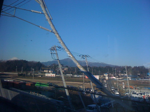 Mt Fuji From the Shinkansen 新幹線から富士山を