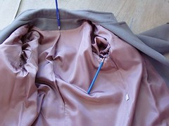 Lining a coat 1
