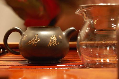 Preparando té