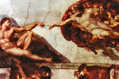 Sistine Chapel Creation of Adam by Michelangelo