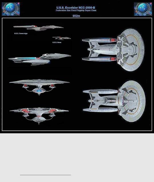 Startrek Wallpaper, USS Excelsior NCC-2000-B, star trek uss Excelsior