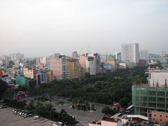 Ho Chi Minh City from roof
