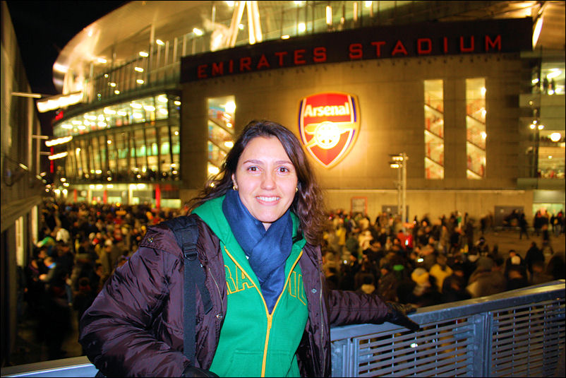 Lu at the Emirates Stadium