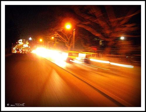 Bangalore roads at night!