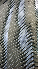 Wacky Building (Non Paratus) Tags: chicago building downtown curves balconies wavy geometricabstract aquabuilding aquatower canonpowershota570 jeannegang