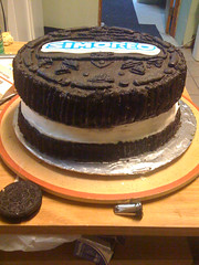 Oreo Cake (Cake in y0 face!) Tags: novelty oreo edible chocolatecake wilton cookiecake oreocake oreoshapedcake