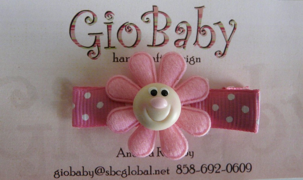 Giobaby Pink on Pink Happy Flower Hair Clips