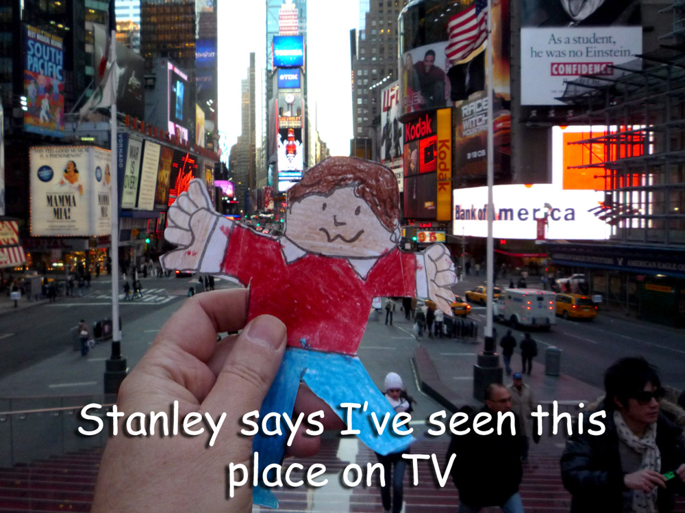 Stanley in Times Square