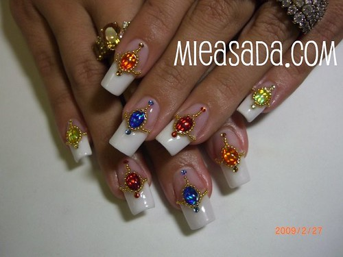 nail French exotic nail art designs with decorated nail art designs gallery