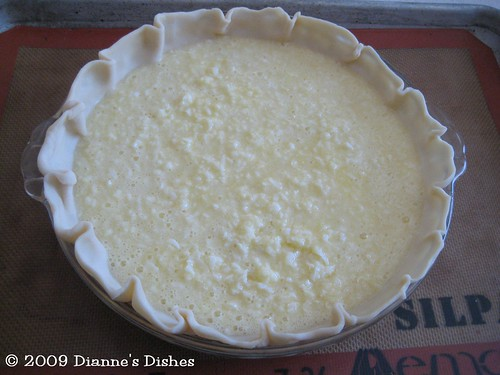 Coconut Pie: Ready to Bake