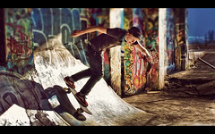 Gleaming the Cube (isayx3) Tags: graffiti nikon post before skateboard after skater process firday d80 skateboardsundays