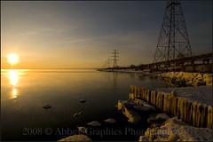 """Splendid"" (@patio3900 on Twitter) Tags: morning sun lake ontario ice beach water set sunrise nikon rocks hamilton hydro shore rise tamron 1024 d300 aplusphoto concordians"