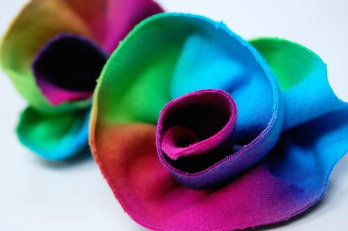 tie dye rosettes