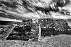 Mexican Ruin 1 (AramWilliams) Tags: travel blackandwhite bw history monument architecture mexico temple blackwhite site ancient ruins aztec ruin culture landmark mexican temples zacatecas destination archeology atmospheric mesoamerican chicomostoc laquemada aztecs ceremonial expressyourselfaward