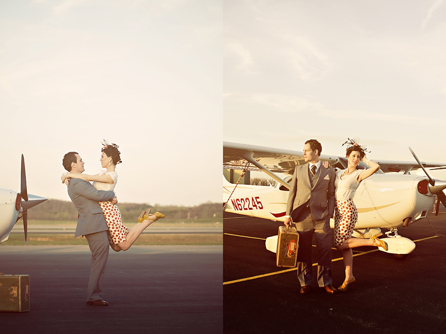 Adam and Lauren-Vintage Editorial Shoot
