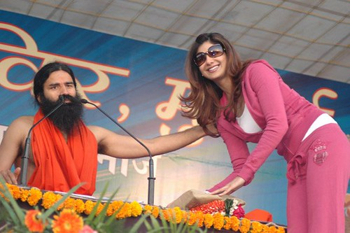 Shilpa Shetty with Baba Ramdev