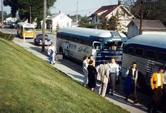 Wilson High Goes Greyhound - Cedar Rapids, Iowa (The Cardboard America Archives) Tags: greyhound choir vintage photo teens slide busses wilsonhighschool scenicruiser